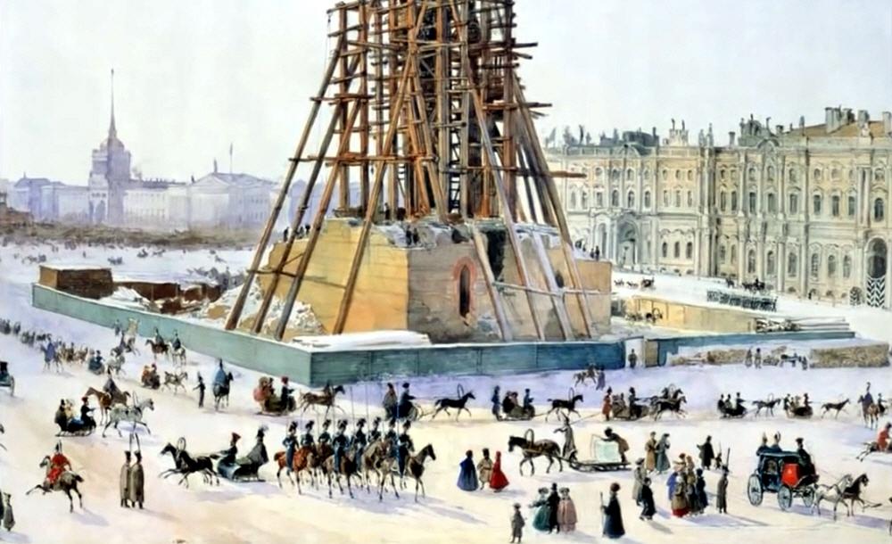 Какие факты полностью перечёркивают историю строительства Александрийской колонны