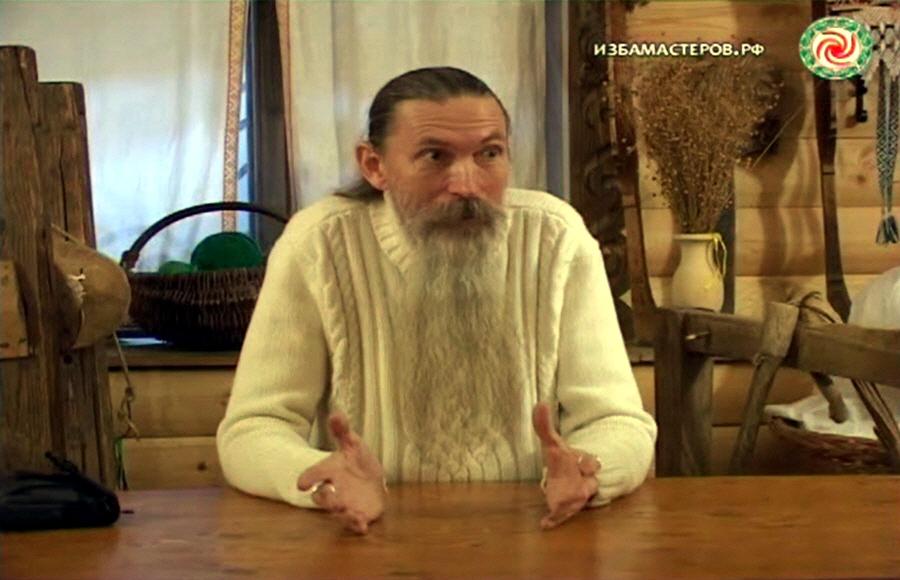 Алексей Трехлебов в Жуковской палате ремёсел 6 марта 2011 года