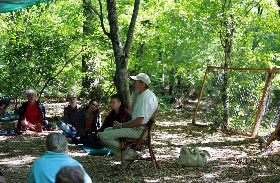Встреча с Алексеем Трехлебовым в йога-лагере Аура летом 2012 года