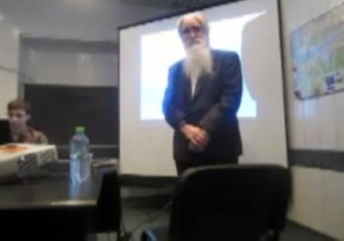 Анатолий Черняев на конференции Влияние космических программ на климат Земли в Дубне 17 декабря 2011 года