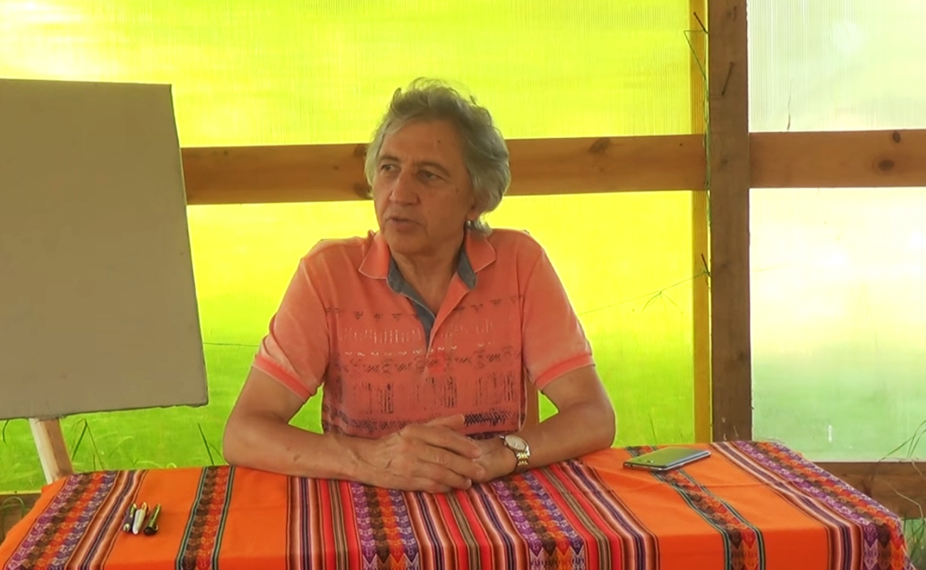 Анатолий Некрасов в поселении родовых поместий «Родное» 20 августа 2016 года