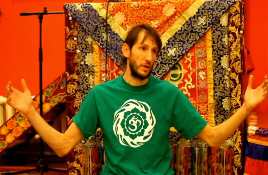 Андрей Верба в ретритном буддийском центре Кунпенлинг в декабре 2011 года