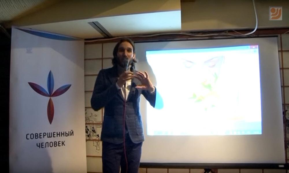 Дмитрий Лапшинов в клубе Белые Облака в Москве 9 ноября 2015 года
