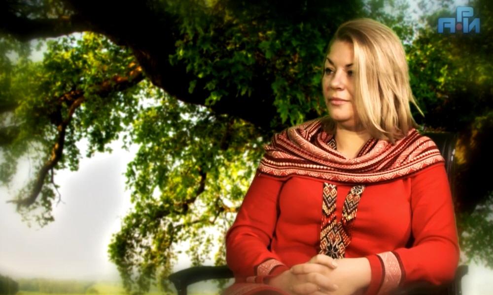 Велеслава Захарова в первом выпуске программы Древо Жизни