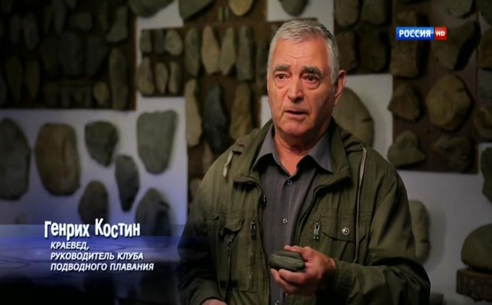 Генрих Костин - краевед, руководитель клуба подводного плавания