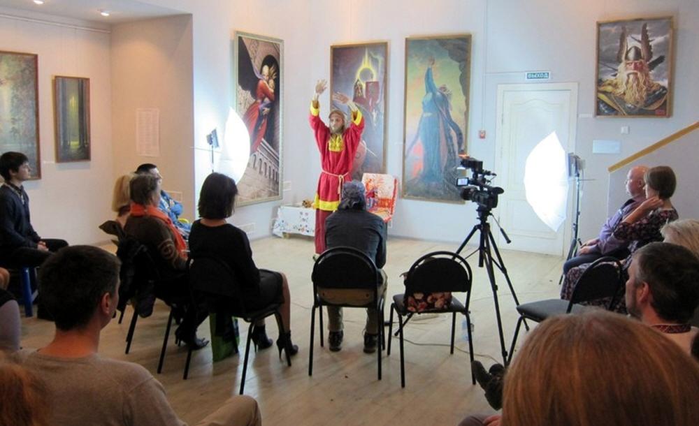 Георгий Левшунов в музее имени художника Константина Васильева в 25 марта 2014 года