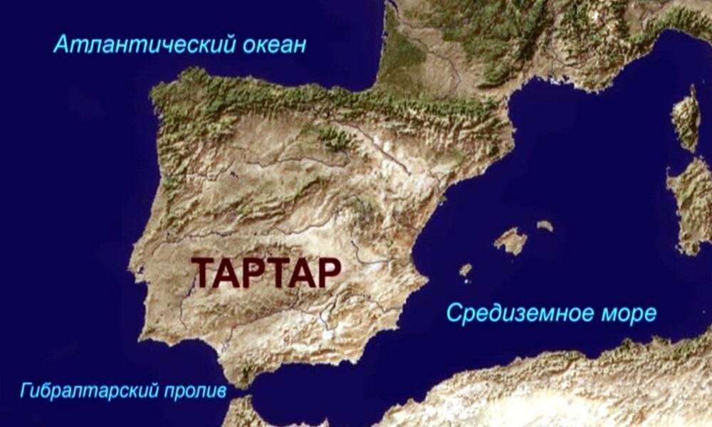 Остатки древнего мифического острова-государства Атлантида