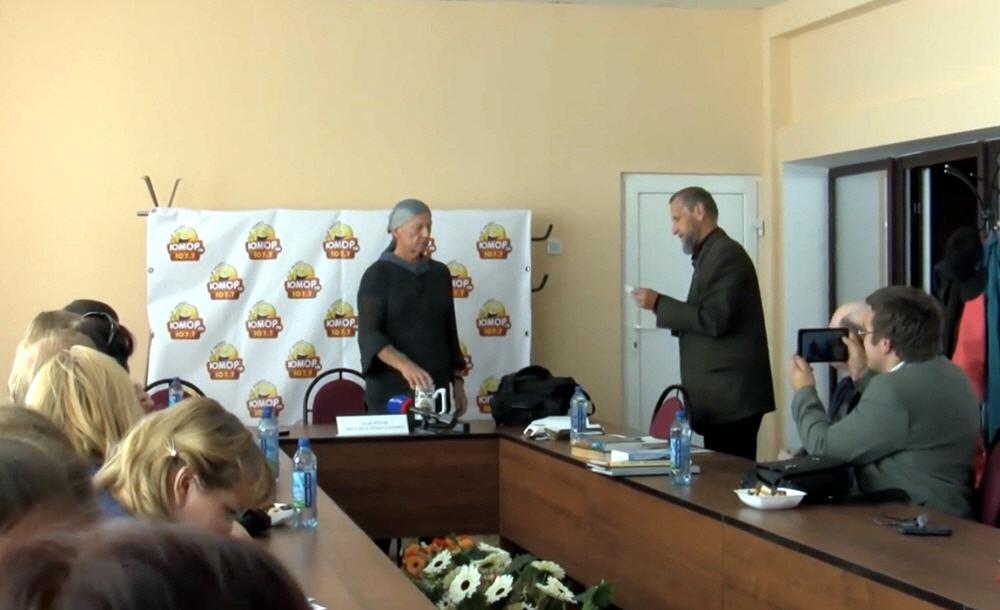 Михаил Задорнов в Смоленске в сентябре 2014 года