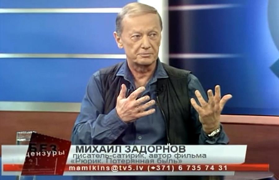 Михаил Задорнов на Латвийском телеканале ТВ5 в программе Без Цензуры