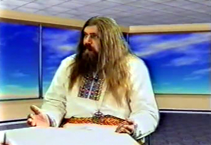 Александр Хиневич в программе Осознание Знания в 2003 году