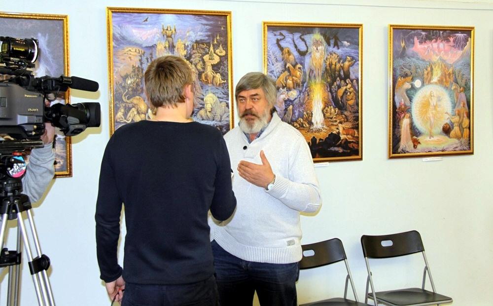 Как пишутся картины о Ведической Руси