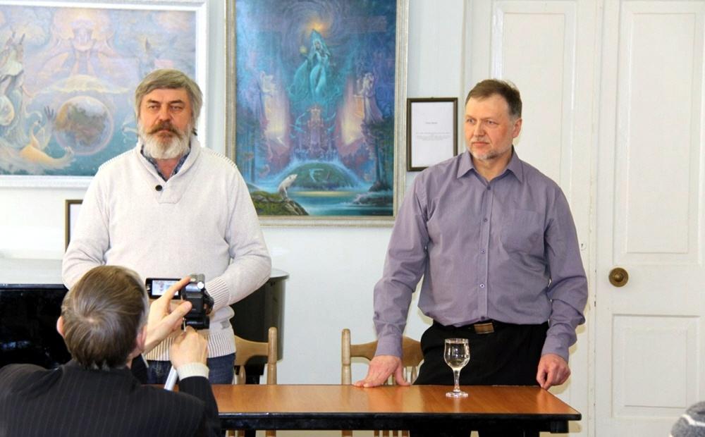 Сергей Алексеев и русский художник-славянист Александр Угланов