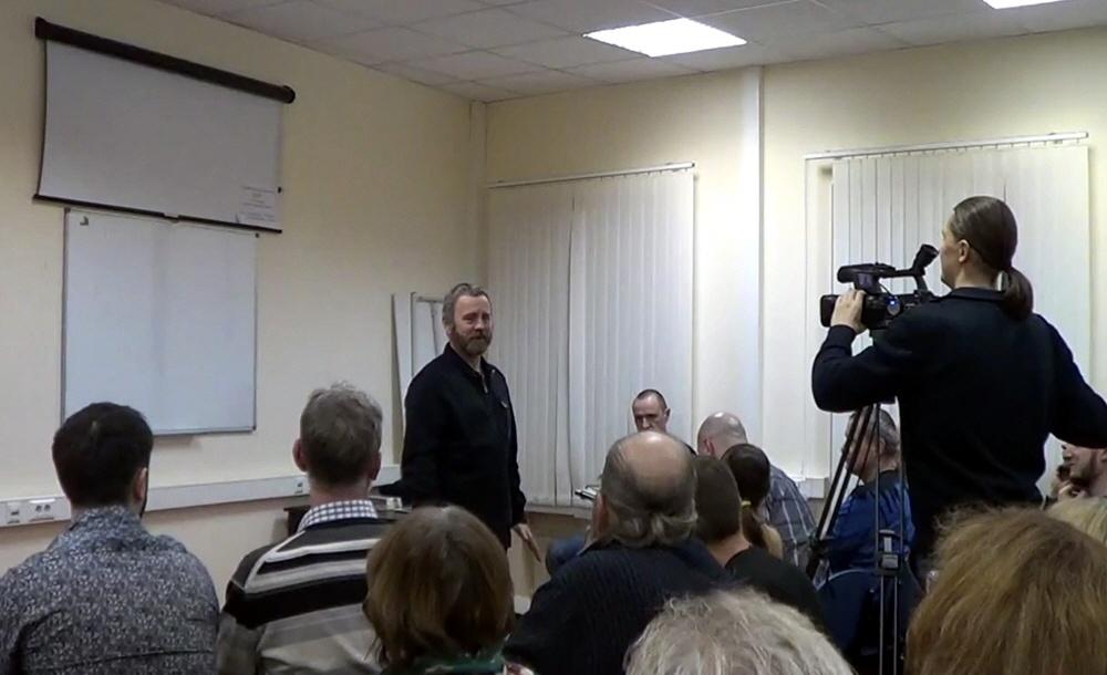 Сергей Данилов в Москве 17 декабря 2014 года