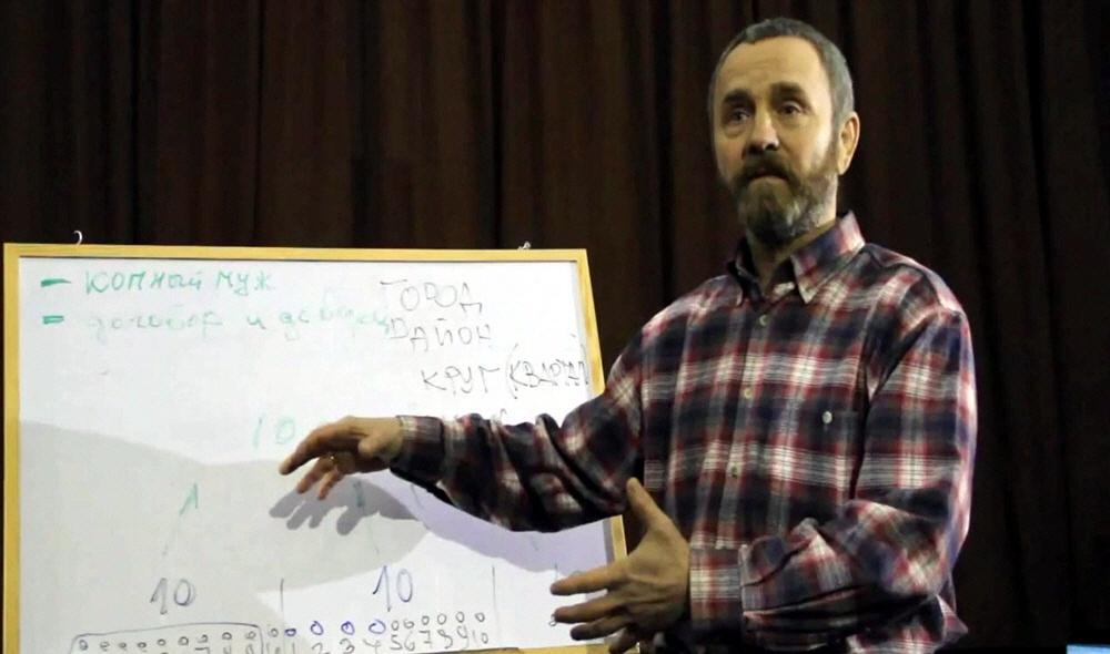 Сергей Данилов в городе Славянске Донецкой области Украины 1 марта 2014 года