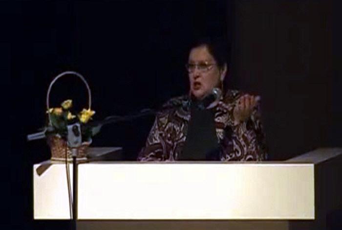 Светлана Жарникова на Конгрессе Ведической культуры в Питере