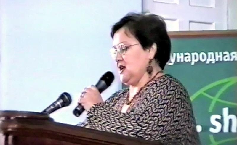 Светлана Жарникова на конференции Русского Географического общества в Санкт-Петербурге 19 марта 2004 года