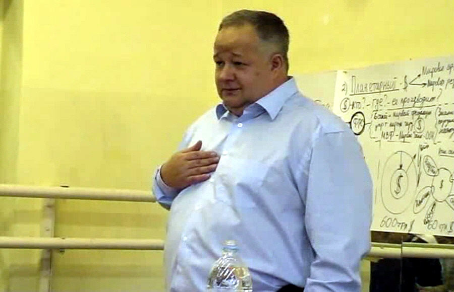 Виктор Минин в Московском клубе друзей доктора Синельникова 2 ноября 2008 года