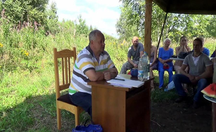 Виктор Минин в Экопоселении Родное 8 августа 2013 года