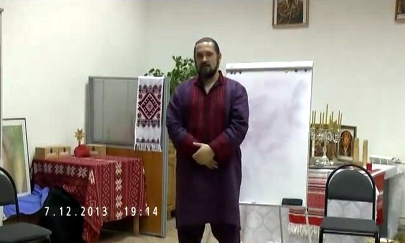 Владимир Куровский в московской общине Славия 7 декабря 2013 года